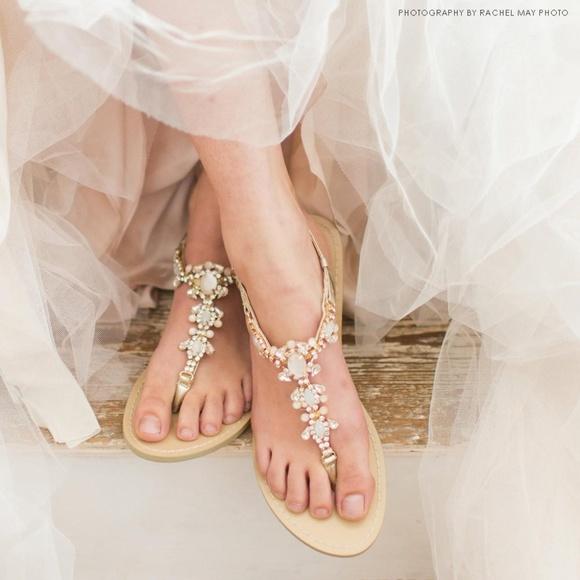 f53f71f39597e Bella Belle Shoes - Bella Belle CRYSTAL JEWEL GOLD DRESS SANDALS LUNA